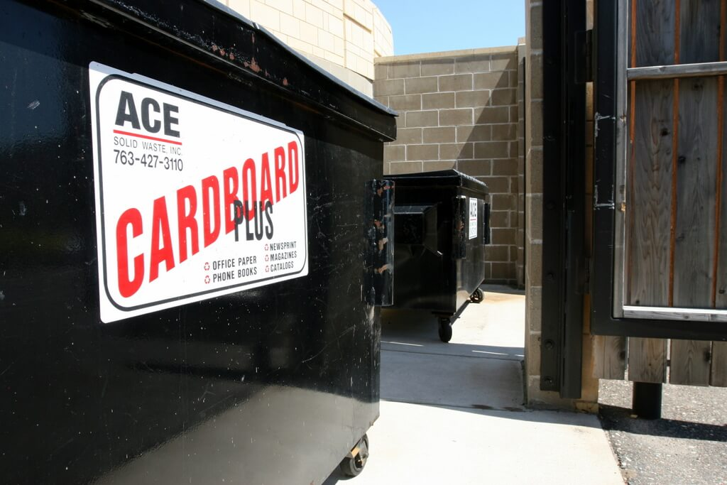 Cardboard Plus recycling is by far our most popular business recycling dumpster service