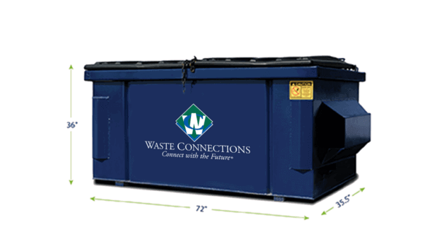 Commercial Waste Services 2 Yards Dumpster
