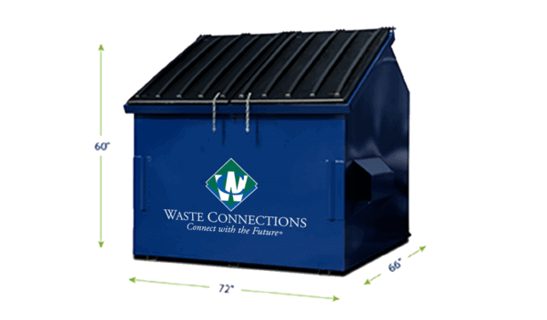Commercial Waste Services 6 Yards Dumpster