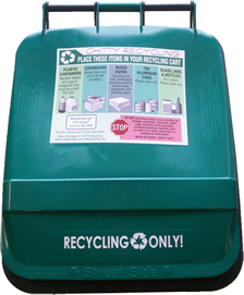 Green Recycle Cart Lid
