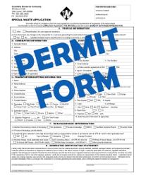 Special Waste Permit