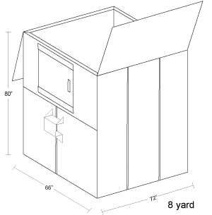 8 Yard Container