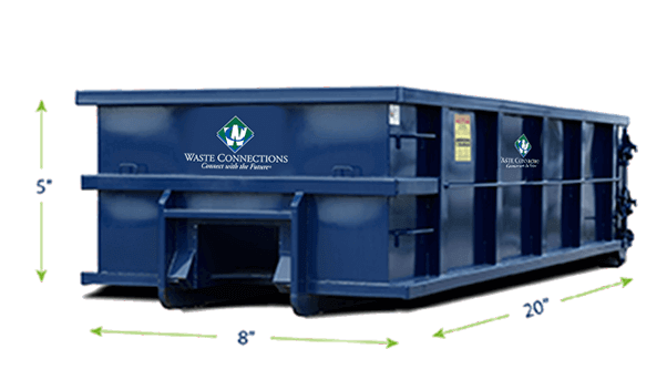 Residential Roll-Off 2 Yards Dumpster
