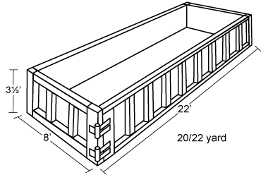 20-22 Yard Container