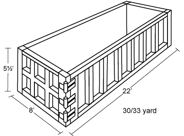 30-33 Yard Container