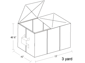 3 Yard Container