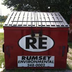 rumsey 8yd slant dumpster